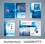cover book design set  abstract ... | Shutterstock .eps vector #1660081975
