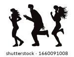 vector silhouette of anonymous... | Shutterstock .eps vector #1660091008