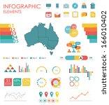 vector map of australia ... | Shutterstock .eps vector #166010402
