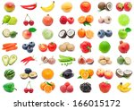 collection of various fruits... | Shutterstock . vector #166015172