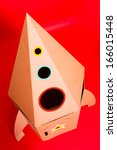 handmade toy rocket of... | Shutterstock . vector #166015448