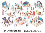expo center and trade show... | Shutterstock . vector #1660165738