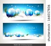 set of two blue christmas...   Shutterstock .eps vector #166017836
