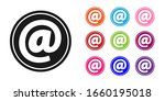 black mail and e mail icon...   Shutterstock .eps vector #1660195018
