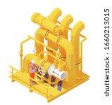 vector isometric gas or oil...   Shutterstock .eps vector #1660213015