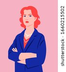 portrait of a redhead woman... | Shutterstock .eps vector #1660215502