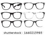 eye glasses set  hipster style...   Shutterstock .eps vector #1660215985