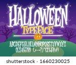 halloween font. spooky letters...   Shutterstock .eps vector #1660230025