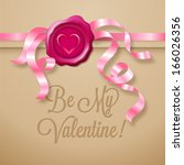 be my valentine   greeting card ... | Shutterstock .eps vector #166026356