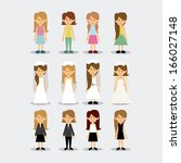 woman  design over gray...   Shutterstock .eps vector #166027148
