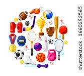 background with sport icons.... | Shutterstock .eps vector #1660293565
