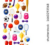 seamless pattern with sport...   Shutterstock .eps vector #1660293568