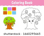 Coloring Book For Kids. Easter...