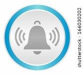 ringing bell  neon light... | Shutterstock .eps vector #166030202