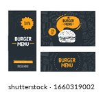 fast food doodle banner menu... | Shutterstock .eps vector #1660319002