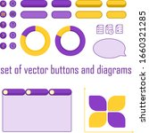 set of vector buttons and...