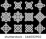 celtic knots collection for... | Shutterstock .eps vector #166032902