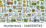 organic farm seamless pattern...   Shutterstock .eps vector #1660330765