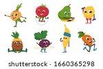 fruits fitness. vegetables... | Shutterstock .eps vector #1660365298