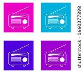 radio icon . simple outline...