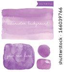 purple vector watercolor... | Shutterstock .eps vector #166039766