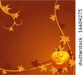 halloween background with... | Shutterstock .eps vector #16604275