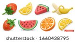 summer fruits icon set with... | Shutterstock .eps vector #1660438795