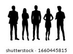 vector silhouettes of  men and... | Shutterstock .eps vector #1660445815