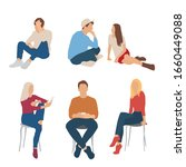 set of men and women  different ... | Shutterstock .eps vector #1660449088
