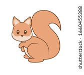 cute squirrel with outline... | Shutterstock .eps vector #1660455388
