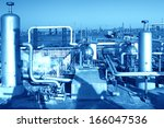 oil and gas processing plant | Shutterstock . vector #166047536