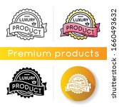 luxury product icon. linear... | Shutterstock .eps vector #1660493632