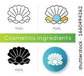 pearl icon. open seashell....   Shutterstock .eps vector #1660494262