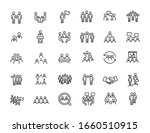 set of linear meeting icons.... | Shutterstock .eps vector #1660510915