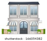 illustration of a big building... | Shutterstock .eps vector #166054382