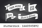 ribbon banner. set of black and ... | Shutterstock .eps vector #1660545892