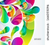 abstract colorful arc drop... | Shutterstock .eps vector #166055096