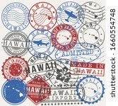 hawaii  usa set of stamps.... | Shutterstock .eps vector #1660554748
