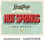 vintage touristic greeting card ... | Shutterstock .eps vector #1660555828