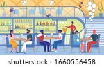 speed dating party in...   Shutterstock .eps vector #1660556458