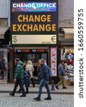 Small photo of TURKEY - February 29, 2020 : A Currency Exchange. Exterior view of exchange office in Istanbul.