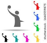 volleyball logo multi color...