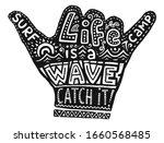 black hang loose silhouette... | Shutterstock . vector #1660568485