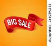 big sale banner. red paper roll ... | Shutterstock .eps vector #1660591588