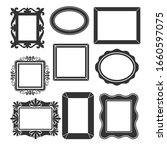 vintage frames. antique... | Shutterstock .eps vector #1660597075