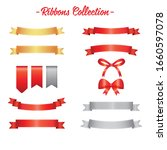 vector ribbons and labels set | Shutterstock .eps vector #1660597078