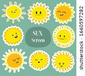 sun icons. beautiful elements... | Shutterstock .eps vector #1660597282