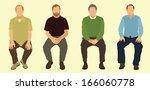 sitting down | Shutterstock .eps vector #166060778