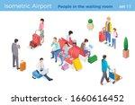 people sitting standing ... | Shutterstock .eps vector #1660616452
