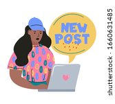 blogging and vlogging . cute...   Shutterstock .eps vector #1660631485